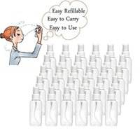 30ml 1oz Plastic Clear Spray Bottles Refillable Small Portable Empty Bottle for Travel Essential Oils Perfumes