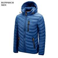 Roupeshch hommes hiver décontracté chaud épais coiffeur veste coupe-vent parkas manteau automne extérieur mode mode mince