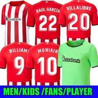 Version du joueur 21 22 Bilbao Club Soccer Jersey Athletic Raul Garcia Berenguer Williams 2021 2022 Villalibre Muniain Martinez Men + Kit Kit Kit Camiseta de Football Shirt