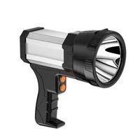 Linternas portátiles Búsqueda reforzada Super Bright 6000 LUMEN LED Protable recargable Lámpara de mano grande Lámpara de mano grande