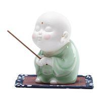 السيراميك البخور الموقد حامل نعمة البوذية الراهب الديكور سطح المكتب حلية رائعة عصا مصابيح العطر