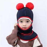 Girl Boy Baby Scarf Plush Children Winter Keep Warm Woolen Hat Kids Fashion Hairball Thickening Beanie High Quality 13 5hm F2
