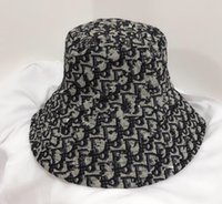 Classic Big Lettres Bucket Chapeau Fiely Pliable Caps Casquettes Noir Fisherman Beach Visière Sun Visor Casquette pliante