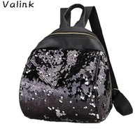 Открытые сумки Valink 2021 Блестящие блестки Школа рюкзака Женщины Девушка Bagpack Back Pack Путешествия Ruckack Плечо Mochilas Mujer SAC
