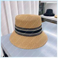 Moda chapéu de palha mulheres cubeta chapéu chapéu chapéus luxurys designers bonés os homens bonnet beanie cappelli firmati chapéu de verão tampa mütze b2105171l