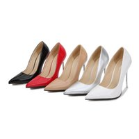 Dress Shoes Women Pumps Sexy Elegant Thin Heel Pointed 11cm High Heels Black Work Single Party Womens Red Wedding