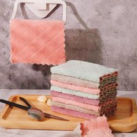 Cleaning Cloths Dishcloth Microfiber Towels Rag Absorbent Kitche-Tools Anti-grease Reusable Wipe-Table Scouring-Pad