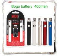 Original Bogo 400mAh Vape twist Battery USB Charger Double kit Oil Cartridge Batteries For 510 cartridges Pen vs cookies uni