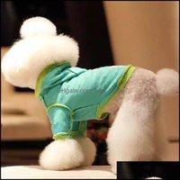 Supplies de cão Casa Vestuário Gardendog Roupas Primavera / Verão Pet Roupas Hoodies Lazer Esporte Filhote de Cachorro Aessórios Terno Para Drop Entrega 2021 y