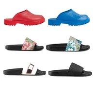 Sportfansgot slip on sandals luxury men slippers Italy thick bottom with holes 2021 Designer women flat slipper slide floral blossom animals snake tiger