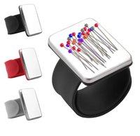 3 цвета Швейные инструмент PINCUSHION ручная магнитная игольчатая прокладка PIN-прокладки Подушки хранения одежды держатель одежды