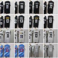2021 Nacc Basketbol Formaları Erkek Jersey 11 Kyrie Irving 13 James Harden 72 Biggie Mavi Beyaz Siyah Gri Dikişli