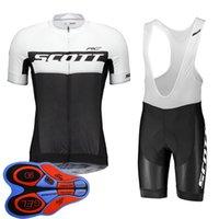 Команда Скотта Летний Велоспорт Джерси Костюм Дышащий быстрый Сухой Короткий Рукав Рубашка Нагрудник Шорты Удобства Мужчины Bikeoutfits Спортивная Униформа 32095