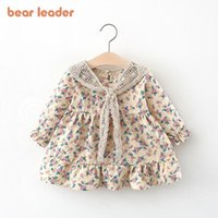 Girl's Dresses Bear Leader Born Baby Floral Dress Fashion Toddler Girls Princess With Lace Shawl Infant Flower Clothing Vestidos