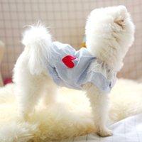 SHIGNG Summer Dog Vêtements Dentelle Dentelle Chemise Vêtements chauds pour petits chiens Costumes Costumes Costume Jacket Chiot Chemises Chiens Chiens Animaux Tenuilles T200710