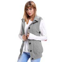 Winter Large Size Women's Sweater Sleeveless Zipper Bag Plus Veet Coat