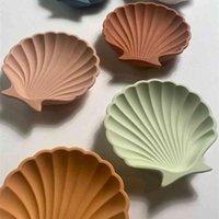 Shell Trinket Dish Mold Sea Candle Concrete Jesmonite Tray Handmde Creative Plate Storage 210722