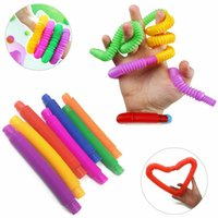 Bunte Zappeln Tube Spielzeug für Kinder Pipe Sensory Tools für Stress Relief Pädagogisches Klappspielzeug