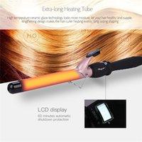 Temperature Setting Electric Ceramic Hair Curler Long Curling Tong Wand 13-38mm Professional Hair Curling Iron LCD Screen