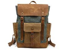 Outdoor Computer shoulder sports bag travel backpack Schoolbag Knapsack Canvas Pure color Men and women School Bags Handbag A8838