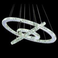 High Quality Pendant Lamps Creative Stainless Steel Round Crystal Chandelier Modern Minimalist LED Lights Luxury Bedroom Restaurant Household Indoor Lighting