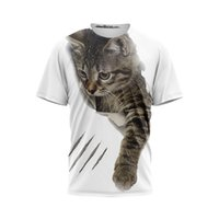 Man's t shirts 3 d digital graphic T-shirt funny boy with short sleeves Diy design street clothing breathable leisure coat animal motifs wholesale euro size