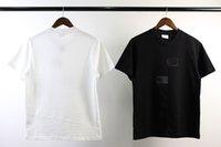 Sup Brand Men's Camisetas para mujer Camisetas de moda suelto Cuello redondo Logotipo único Diseño de desalineación para hombres y mujeres Mangas cortas