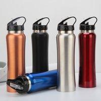 Aço inoxidável garrafa de água carabiner fivela vácuo chaleira outdoor curso isolado refrigerador bebendo caneca xícara wll575