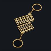 Abacus Anahtarlıklar 6 Dosyalar 8 Dosyalar Abaküs Metal Anahtarlık Çin Rüzgar Altın Gümüş Abaküs Anahtarlık Zincir Kolye Moda Aksesuarları 1141 B3