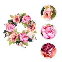 Napkin Rings Artificial Flower Garland Floral Simulation Rose Flowers Wreath Valentine