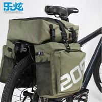 Durable 37L Bolso de la palanca 3 en bolsa Bicicleta Trasero Asiento Rostro Rostro MTB Bike Rack 1 Bicicleta impermeable Pannier Road Tronco Mountain Vinkn