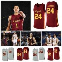 NCAA College Loyola Chicago Ramblers Jersey de basketball 23 Cooper Kaiifes 24 Aundre Jackson Tate Alcock Hall 25 Cameron Krutwig sur mesure sur mesure cousu