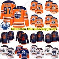 Edmonton Oilers Jerseys 97 Connor McDavid 99 Wayne Gretzky 74 Ethan Bear 29 Leon Draisaitl 93 NUGENT HOPKINS 18 NEAL HOCKEY JERSEY