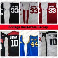 Mens Баскетбол Джерси NCAA 2012 Команда США Нижний Мерон 33 Брайант Джерси Колледж Высшая школа Баскетбол Hightower Crenshaw Dream Красный белый синий