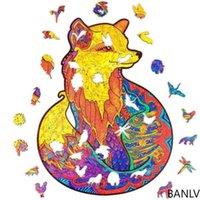 Banlv Fox Puzzle Fox Puzzle в форме головоломки Деревянные высокие трудности Декомпрессионные развивающие игрушки Интернет-известный подарок подарок 3D