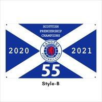 Kostenlose DHL-Verschiffen-kundenspezifische Flagge 3X5FT / 90x150cm Ranger-Fußball-Club FC treue Champions 55 Flaggen Banner für den Außensport HHD5394