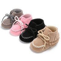 First Walkers Baby Moccasins Soft Flock Tassel Girls Moccs Booties Shoes Moccasin Design Born