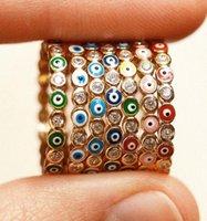 البوهيمي rainbow العين العين حجر الراين شغل الذهب حلقات مع الأحجار الجانبية خمر السيدات ميدي كونلي البنصر خاتم مجوهرات للنساء WJL4607