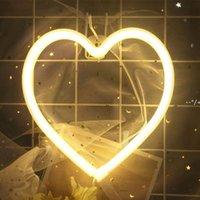 LED Neon Night Light Sign Wall Art Strips Xmas Birthday Gift Wedding Party Lights Lighting Hanging Work On AA Battery HHD10267