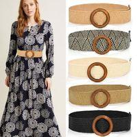 Belts Fashion Plus Size Belt Wide Designer Boho For Women Dress Waist Braid Cummerbund Big Vintage Cinturon Mujer Waistband