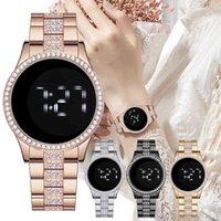 Designer Luxus Marke Uhren Omen Touchscreen White Light Digital Fezes Damenmode Rhinestone Uhr Geschenk ZEGAREK DAMSKI