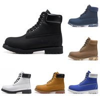 2021 Botas de madera Diseñador de tierras Para hombre Zapatos de cuero para mujer Tobillo Tobillo Tobillo Bota de invierno Vaquero Amarillo Rojo Azul Negro Rosa Rosa Senderismo EUR 36-45