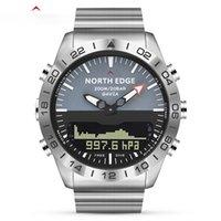 الرجال الغوص الرياضة الرقمية ووتش رجل الساعات العسكرية الجيش الفاخرة الكامل الصلب الأعمال للماء 200 متر مقياس الارتفاع البوصلة الشمالية