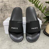 En kaliteli erkek kadın terlik sandalet ayakkabı slayt yaz moda geniş düz flip flop kutusu boyutu ile EUR36-EUR46