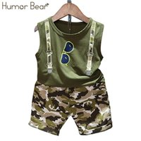 Summer Children Baby Boy Clothes Sets Kids 2pcs Sleeveless T-Shirt Toddler Suits Camo Shorts Child Clothing 210507