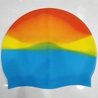 غطاء سباحة بالجملة متعدد الألوان للجنسين سيليكون للشعر الطويل للماء الغوص كاب المهنية السباحة قبعة الاستمرار الشعر الجاف 5color G3367IC