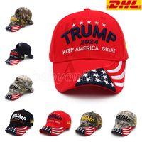 Trump Sombrero 2024 U.S PAPA DE ELECCIÓN Presidencial gorras de béisbol de velocidad de béisbol Ajustable Rebote de algodón deportivo sombreros