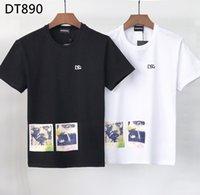 DSQ PHANTOM TURTLE 2021SS New Mens Designer T shirt Italian fashion Tshirts Summer DSQ Pattern T-shirt Male High Quality 100% Cotton Tops 60925
