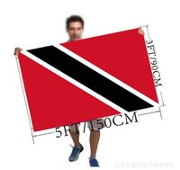 Full size 3 5 feet 90 150cm Trinidad and Tobago flag polyester flag