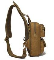 waterproof Mens Messenger Bags Casual Outdoor Travelling Hiking Sports Canvas sling Bag Males Shoulder packs Military Messenger Pocket chest Pack Backpack